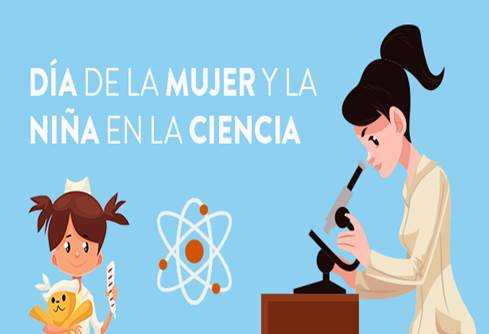 mujer y niña en la ciencia